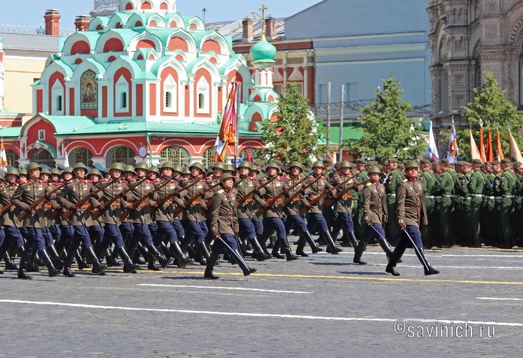 Парад Победы 24 июня 2020. Москва. Исторические роты