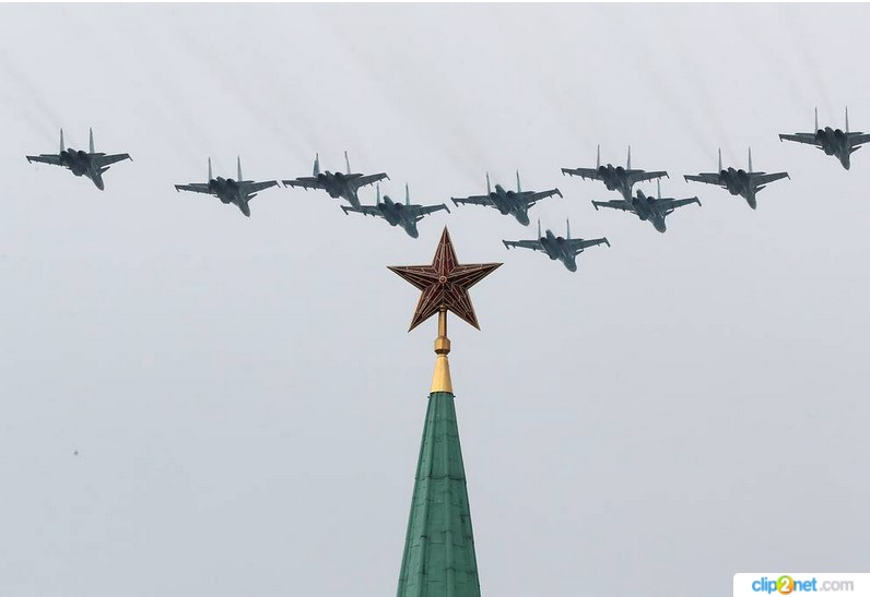 В Москве состоялась репетиция воздушной части парада Победы